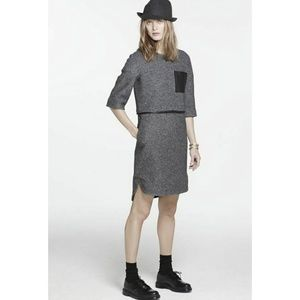 Madewell Leather Pocket Installation Dress Felted